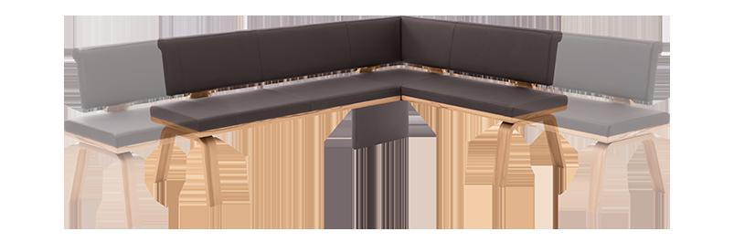 eckbank eiche massiv modern. Black Bedroom Furniture Sets. Home Design Ideas