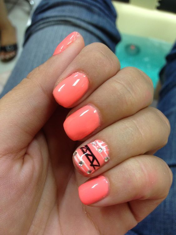 Shellac Ideas For Short Nails - Google Search