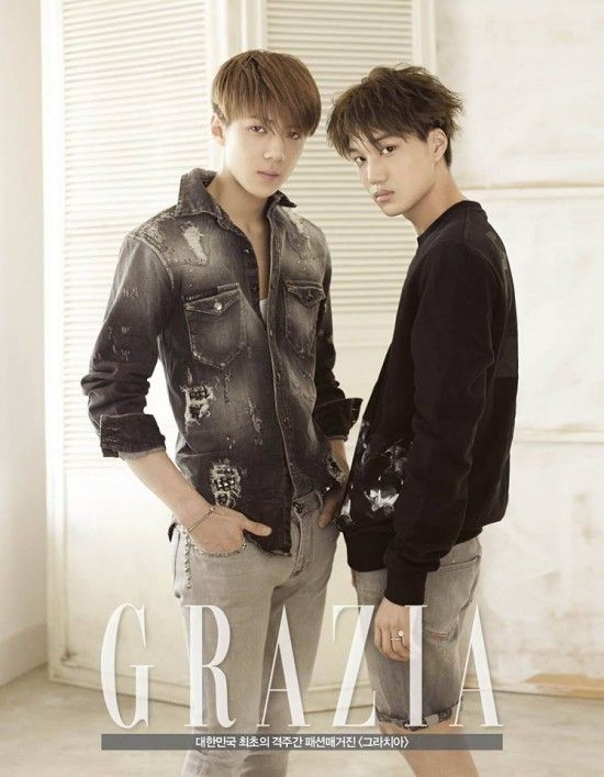 Graziau0027 reveals B-cuts of EXO-Ku0027s maknae-line Kai and Sehun - next line küchen