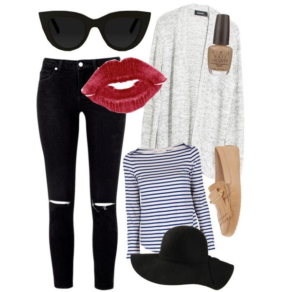 Casual Paris by melissa-casu on Polyvore featuring polyvore, mode, style, A.L.C., MINKPINK, Tod's, Quay and OPI