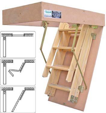 escaleras plegables para altillos escaleras con escalones de madera buscar con google skala escaleras de altillo escaleras