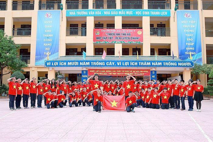 Áo cờ đỏ sao vàng trường THCS Thành Công - Hình 7