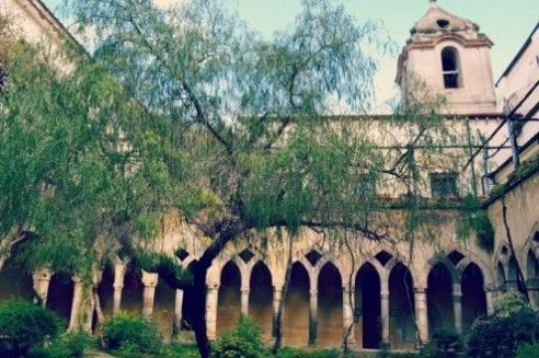 St. Francis Cloister for your wedding in Sorrento, then great party at Bellevue Syrene...