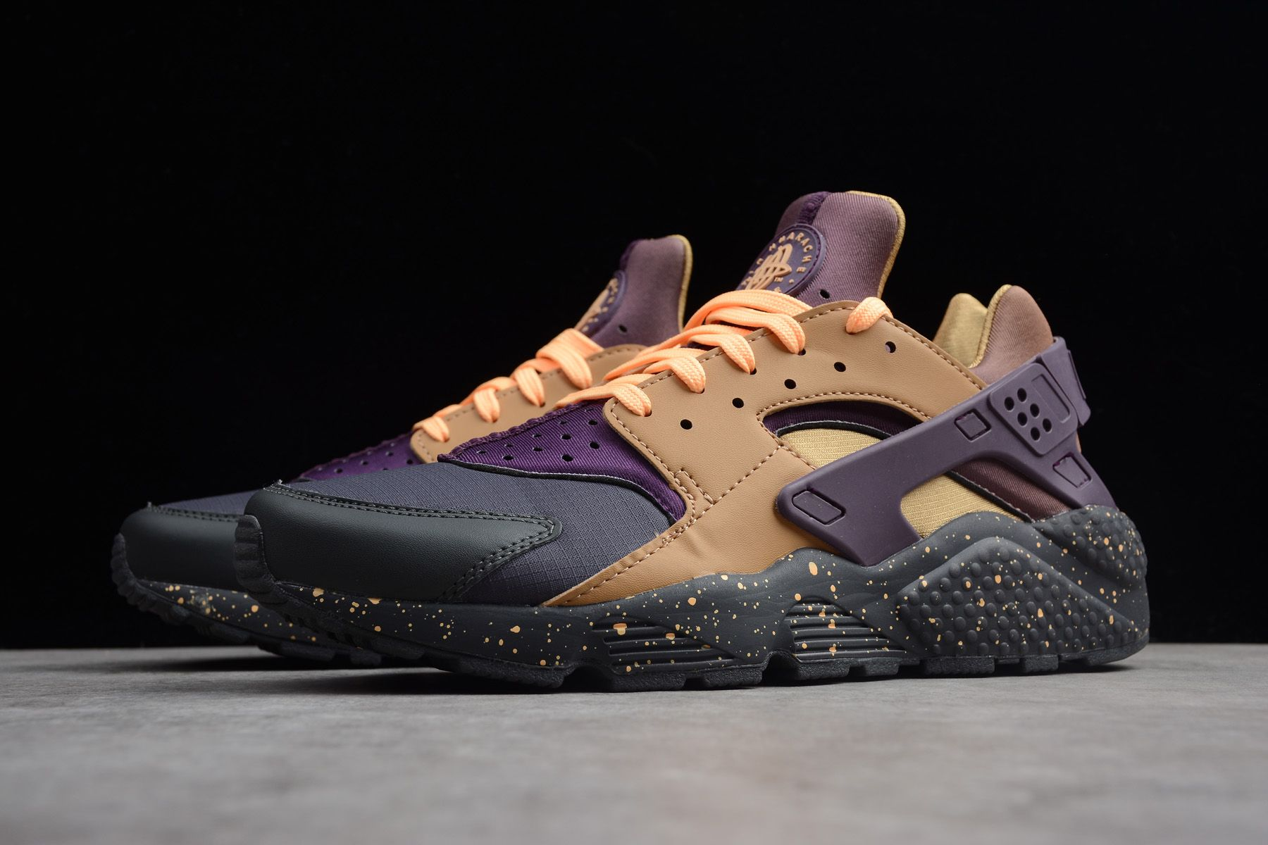 00242f0b829bb Nike Air Huarache Run Premium Anthracite/Pro Purple/Elemental Gold 704830- 012