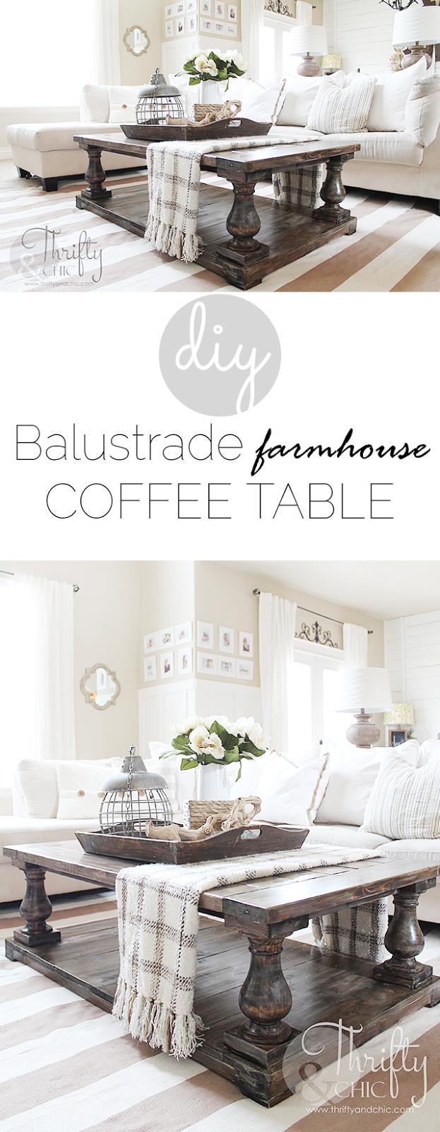 Diy Balustrade Farmhouse Coffee Table Decorating Coffee Tables