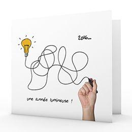 Cartes De Voeux Entreprises Une Annee Lumineuse 1 Carte De