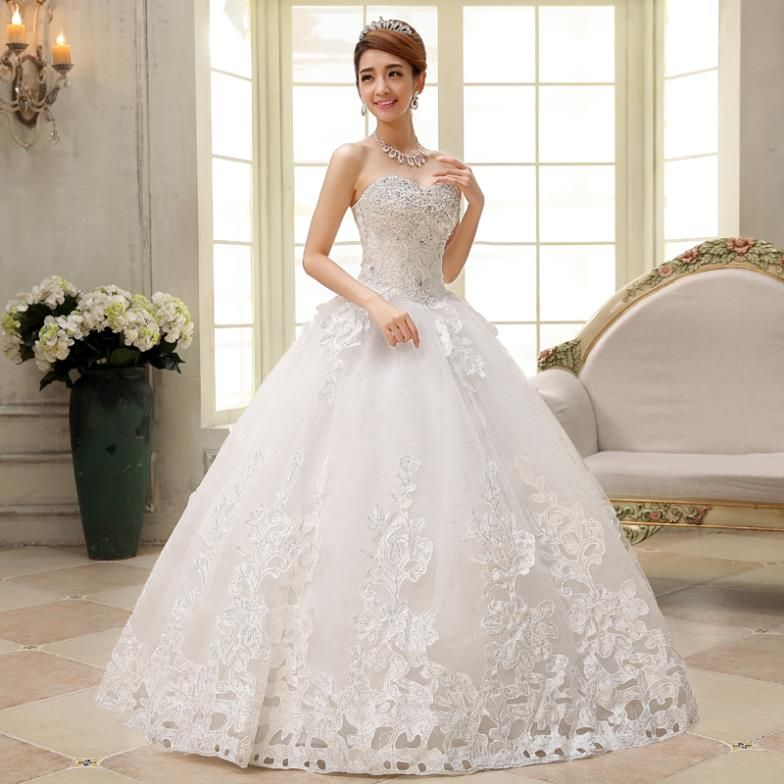 Modern Selection European Brides Wear Outfits 2015 5 Ball Gown Wedding Dress Jeweled Wedding Dress Ivory Wedding Dress