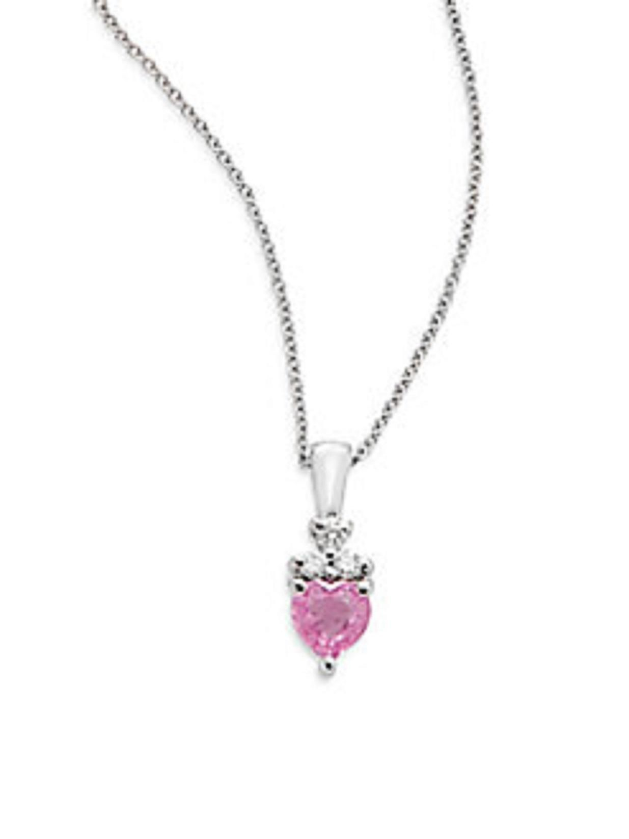be73b4bc7 Pink Sapphire, Diamond & 14K White Gold Necklace. Free shipping and ...