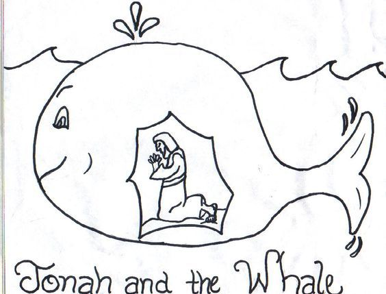 Jonah and the Whale Clip Art Free | Jonah Coloring Pages Free ...
