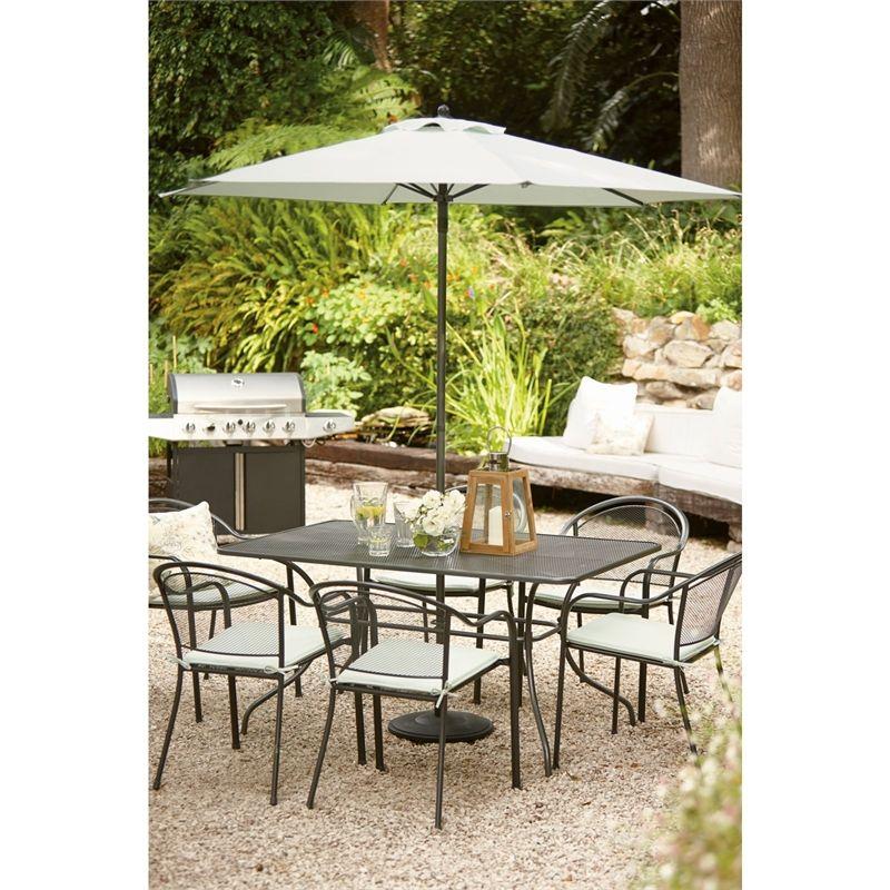 Ontario Steel 6 Seater Rectangular Garden Furniture Set at ...