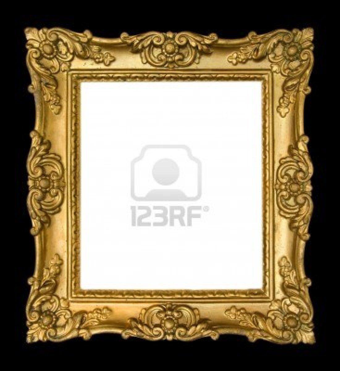 Ornate Vintage Gold Frame On Black Background Non Profit Social