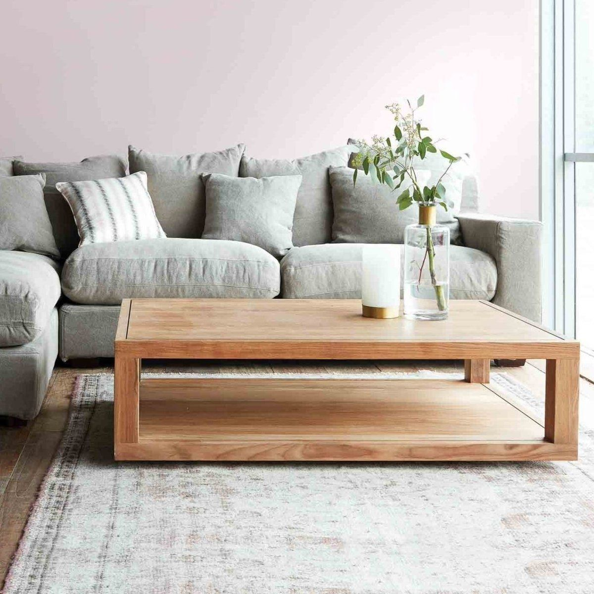 Ethnicraft Teak Coffee Table Duplex Rectangle Originals Furniture Coffee Table Rectangle Coffee Table Center Table Living Room [ 1200 x 1200 Pixel ]