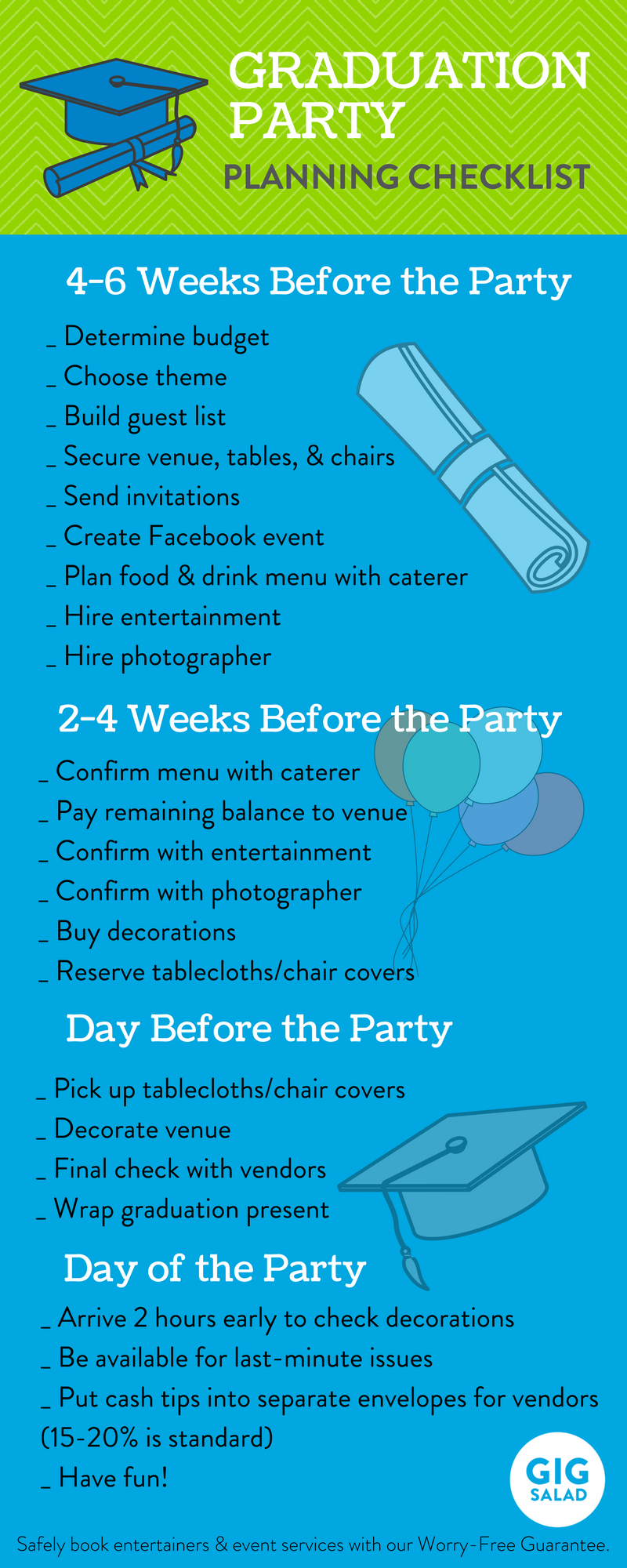 planning a party for your favorite grad  this graduation party checklist is perfect