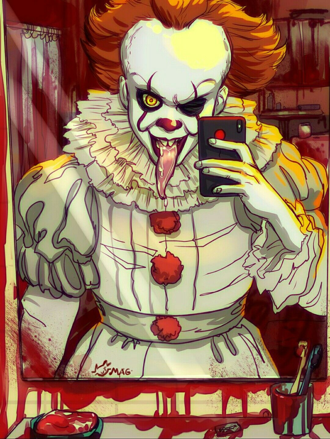 Funny Clown IT 2017 Stephen King Pennywise Pinterest