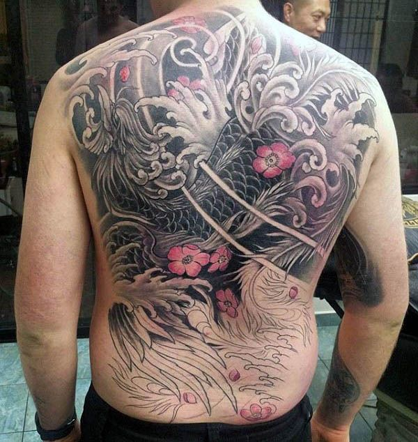 40 Phoenix Back Tattoo Designs For Men Flaming Bird Ideas Back Tattoos For Guys Tattoos For Guys Tattoo Designs Men