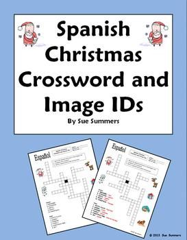 Spanish christmas crossword puzzle worksheet navidad christmas spanish christmas crossword worksheet navidad by sue summers 11 clues and 6 images of malvernweather Images