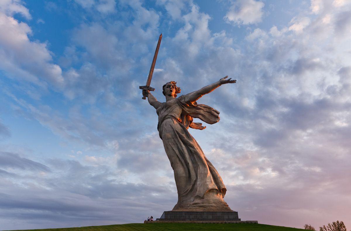 Rodina Mat Zovjot Volgograd Russia 1967 Volgograd Statue Angel Statues