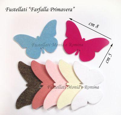 Farfalle Feltro Pannolenci Creazioni Bomboniere Fai Da Te Sagome