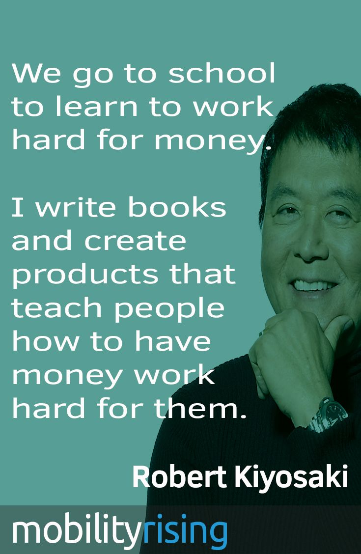 there are not very many people that have the dedication work we go to school to learn to work hard for money