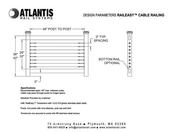 RailEasy Cable Railing Design Parameters
