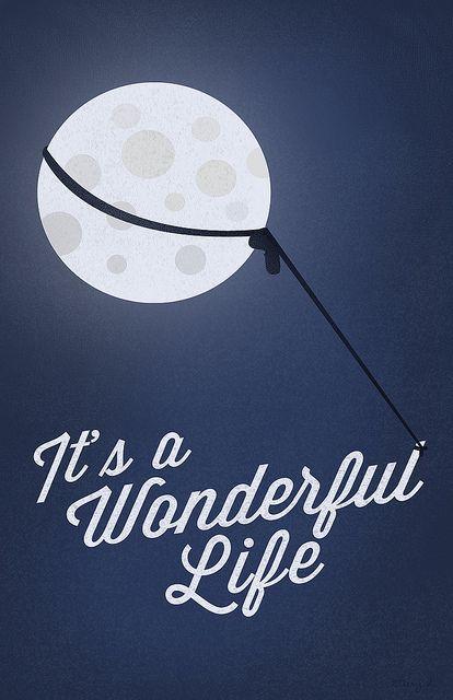 Wall Art Home Decor gift Minimalist Poster It/'s a Wonderful Life Print
