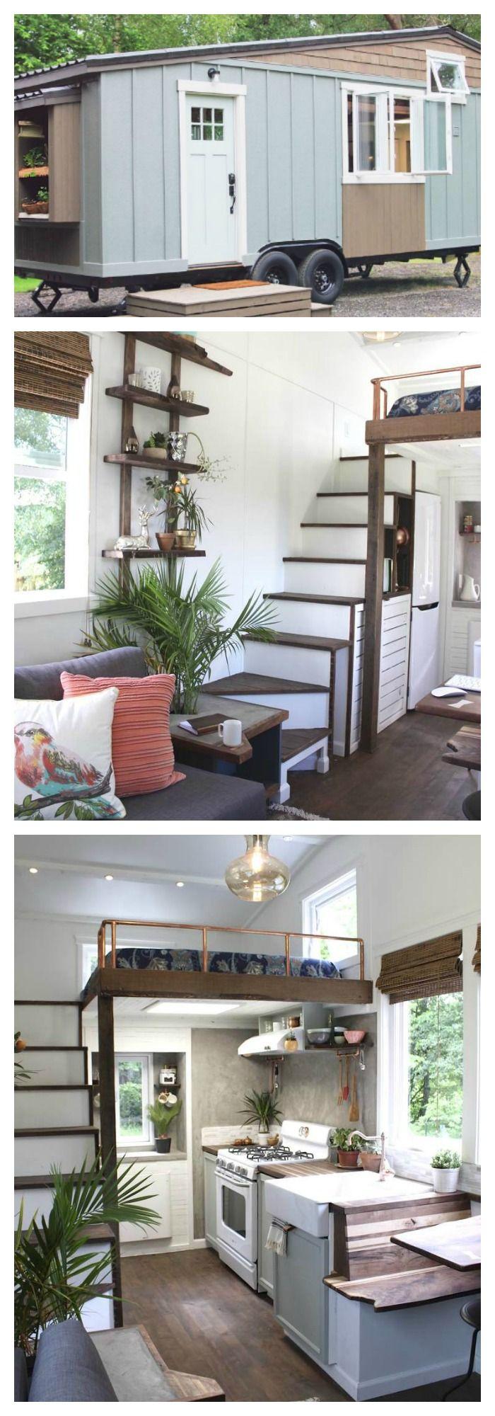 Peek Inside The Cutest Little 250 Square Foot Mobile Farmhouse Tiny House Inspiration Tiny House Nation Tiny House Living
