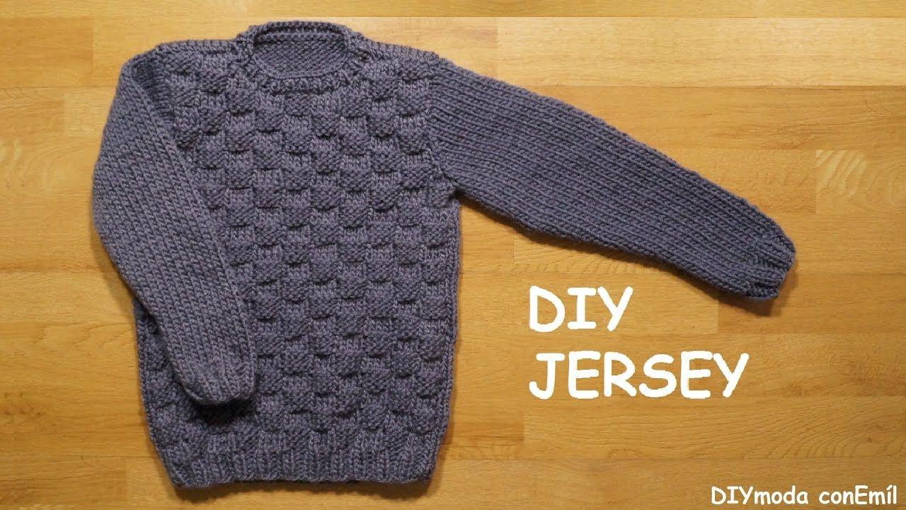 db62783b193e Jersey o suéter para niño de 8 a 10 años tejido a dos agujas paso a ...