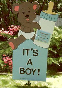 Boy Bear 7 Foot Sign