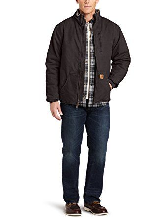 carhartt men s big tall sandstone muskegon jacket review on cheap insulated coveralls for men id=56898