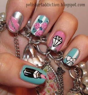 Carrie Bradshaw nails-nails-nails