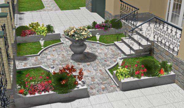Зона входа в ландшафтном дизайне Парадная зона сада, дизайн парадной зоны Садовый