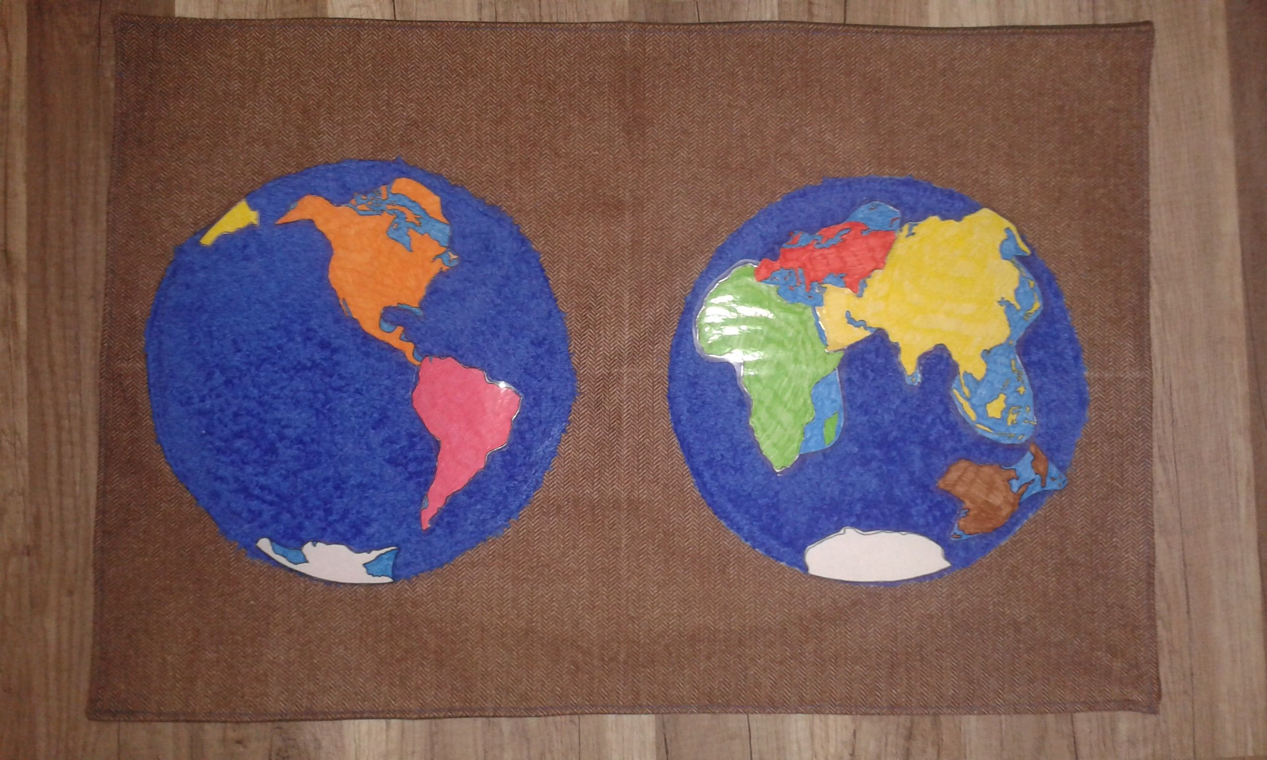 Werkkleedje Werelddelen