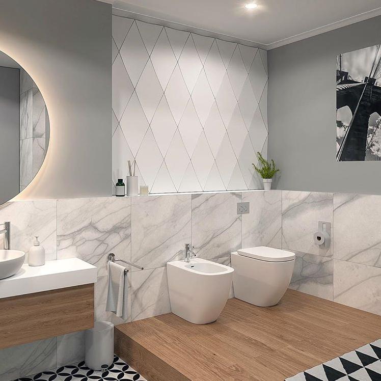 Diamonds By Kalithea Panels Panele 3dpanels Panele3d Bathroom Lazienka Wall Sciana Tiles Plytki Design Interior Modern Bathroom Interior Bathroom