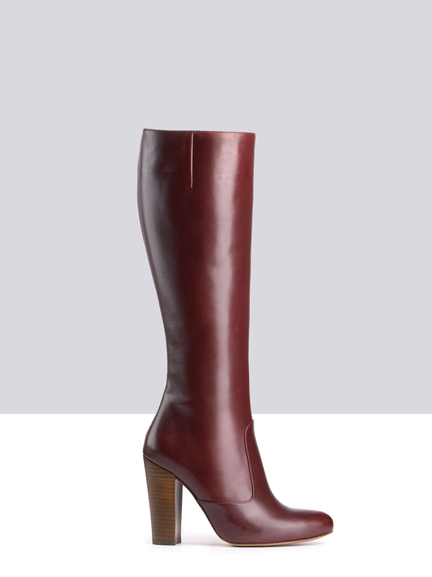 c91a7cb423aa Ismene Burgundy Leather ladies-boots small 1