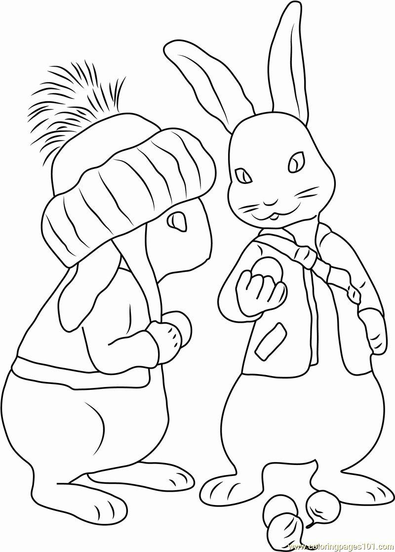 Peter Rabbit Coloring Page Best Of Benjamin Bunny Coloring Page Free Peter Rabbit Coloring Bunny Coloring Pages Coloring Pages Poppy Coloring Page