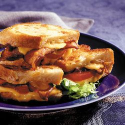 Grilled Cheddar, Tomato, And Bacon Sandwiches