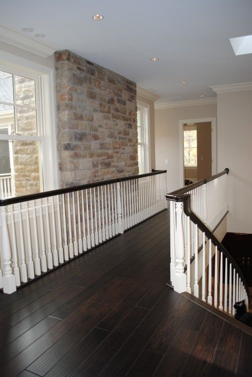 Dark Stain Floor & Railing | Home, House design