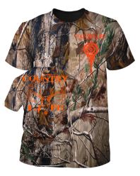 Realtree Camo Country Life Tee with Orange Deer Skull