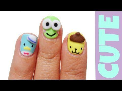 How To Make Kawaii Gel Nails 3d Nail Art Youtube Unhas