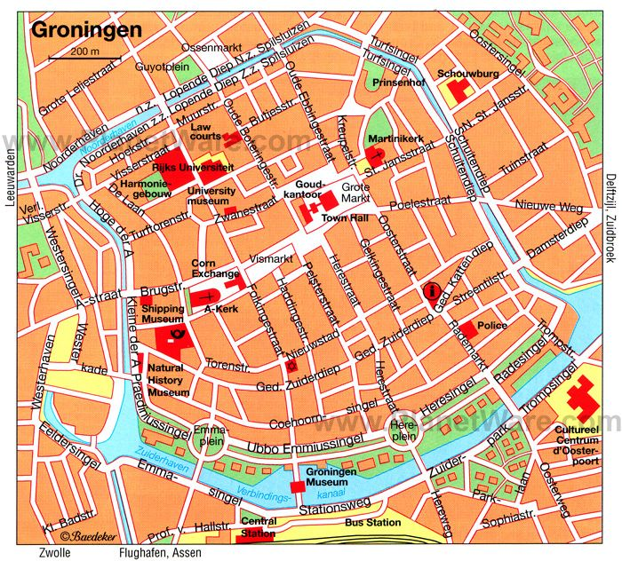 Map of Groningen Attractions PlanetWare DIY Pinterest