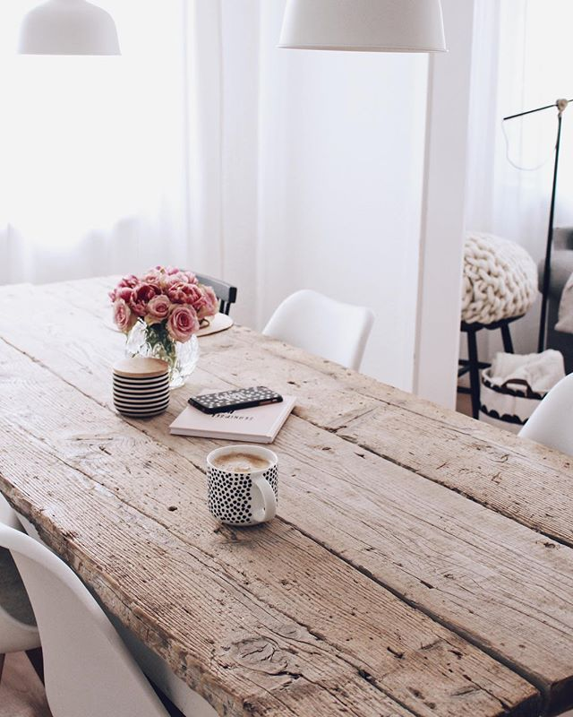 Photo of Build your own DIY dining table – table made from old planks