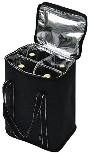 Vina 4 Bottle Wine Carrier Travel Insulated Wine Carryi Wine Carrier Wine Tote Bag Cooler Tote Bag