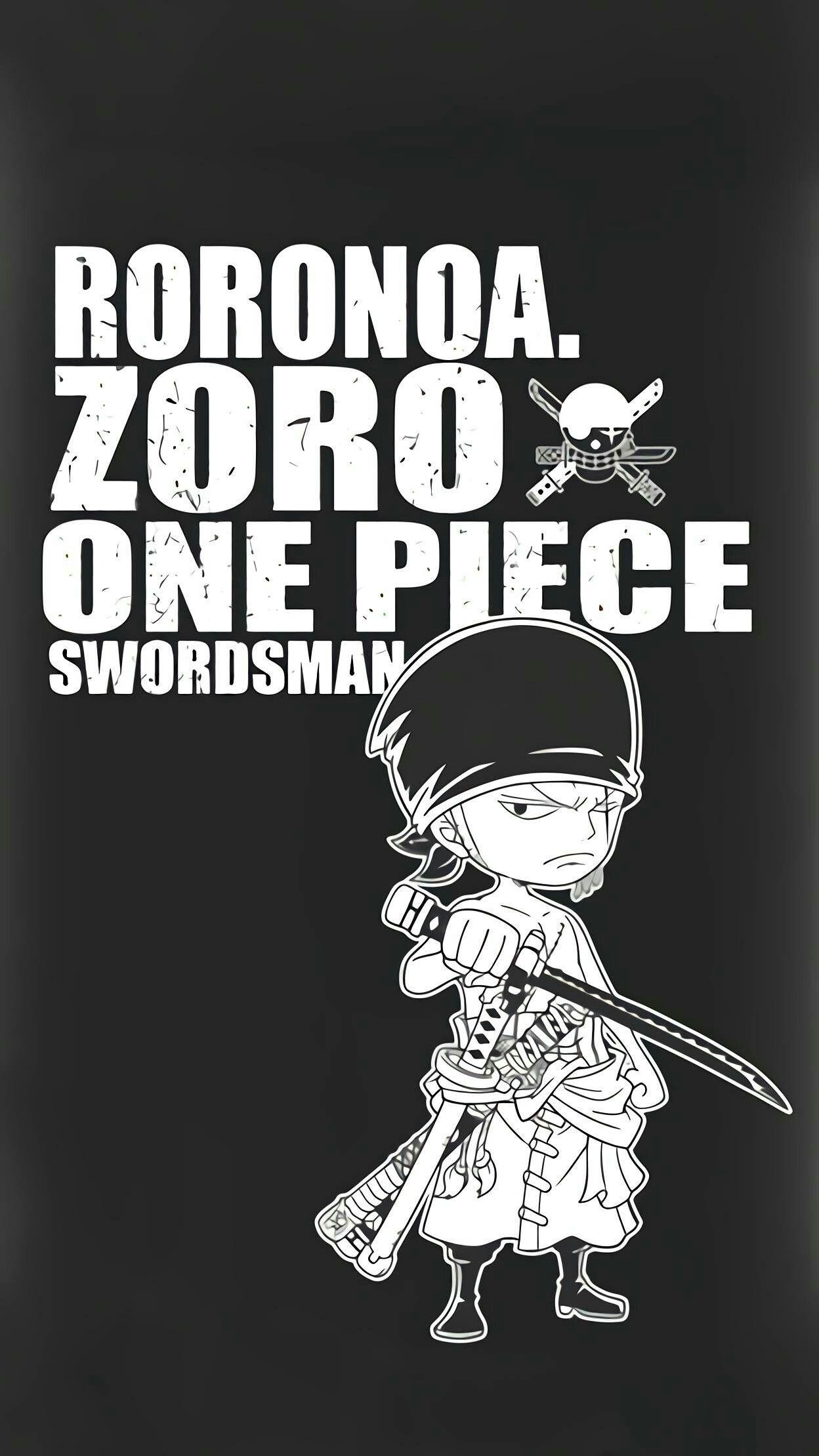 Roronoa Zoro One Piece Swordsman Bajak Laut Logo Keren Gambar