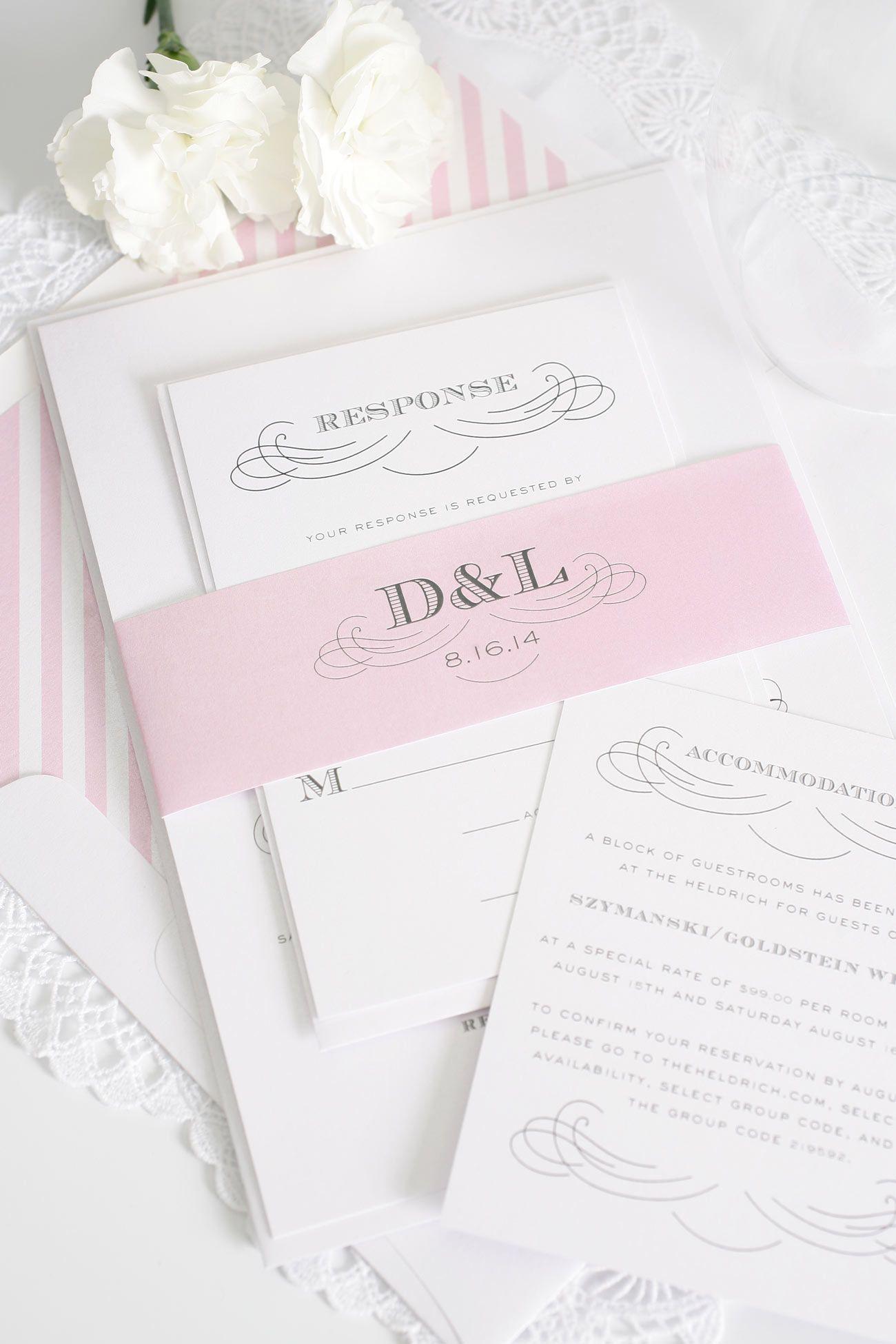 Vintage Wedding Invitations in Blossom Pink   Pink wedding ...