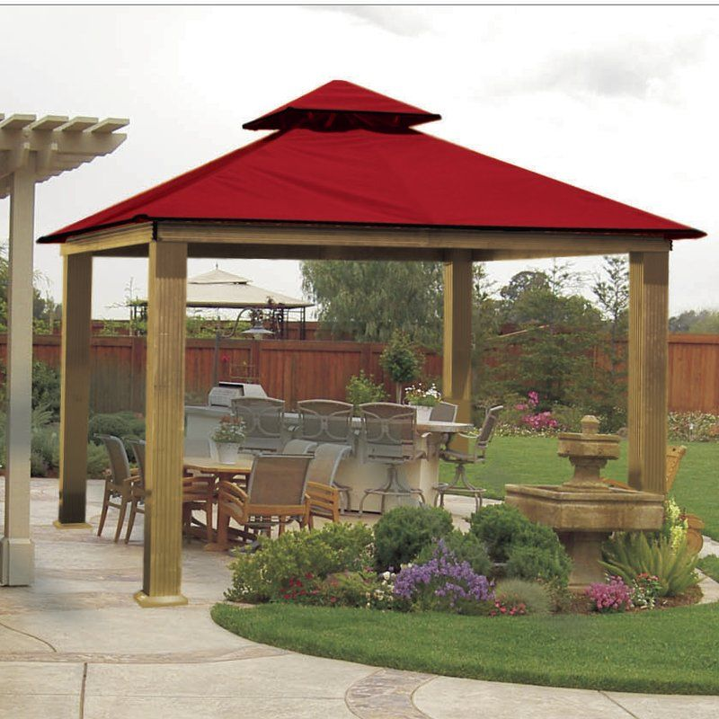 Acacia 14 Ft W X 14 Ft D Aluminum Patio Gazebo Backyard Gazebo Patio Gazebo Garden Gazebo