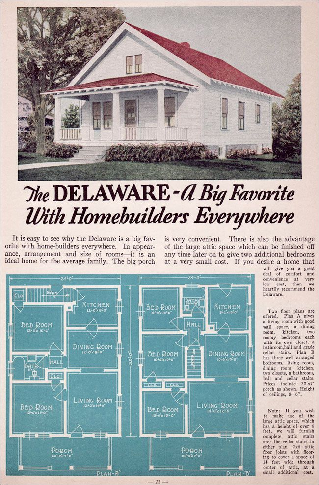 1935 Bungalow Style Liberty Homes By Lewis Mfg The Delaware Vintage House Plans Liberty Home Small House Floor Plans