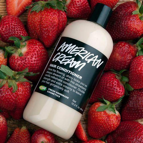 Frische Erdbeeren, Honig und Vanille für glückliches Haar! American Cream Conditioner.