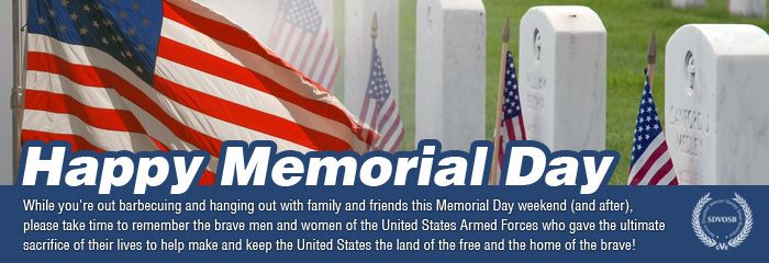 New memorial day message banner added to veteran owned business memorial day message banner to our veteran owned business m4hsunfo
