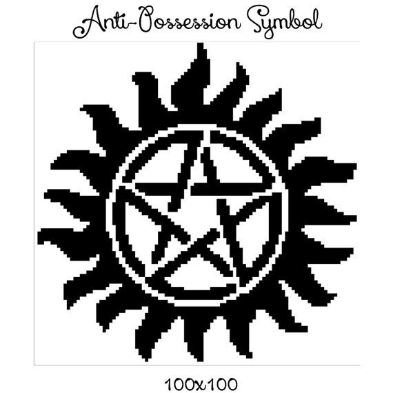 Anti Possession Symbol Supernatural Sam And By Crochetinfinity2