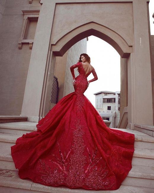 Fashion Rote Abendkleider Lang Günstig | Abendkleid Mit ...